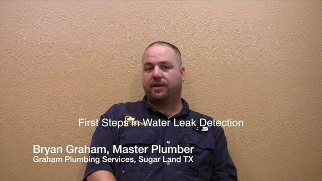 Troubleshooting Water Leaks - Plumbers Sugar Land Katy Houston