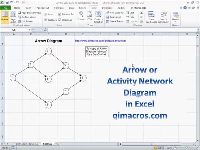 Draw an Arrow Diagram in Excel