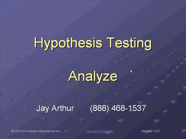 Hypothesis Testing In Excel Made Easy