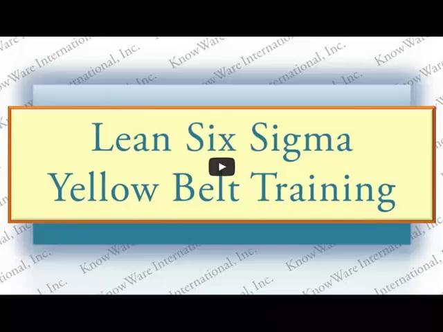 Yellow Belt Training Video Series Introduction