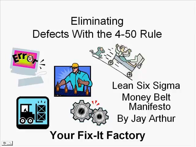 Eliminating Defects With The 4-50 Rule