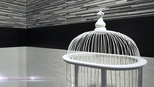Porcelanite Dos - Serie 2203 Blanco-Negro