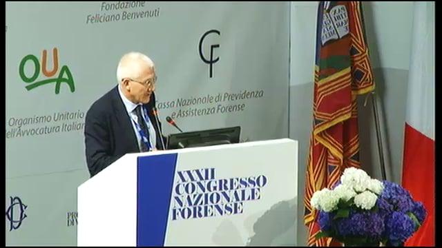 XXXII Congresso Nazionale Forense: intervento integrale di Sergio Paparo, Presidente dell - 10/10/2014