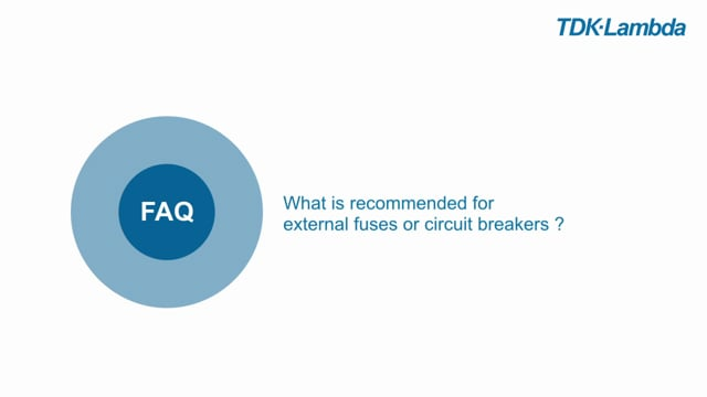 What is recommended for external fuses or circuit breakers for DRF Din Rail power supplies?