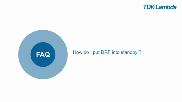 How do I put the DRF Din Rail power supply into standby ?
