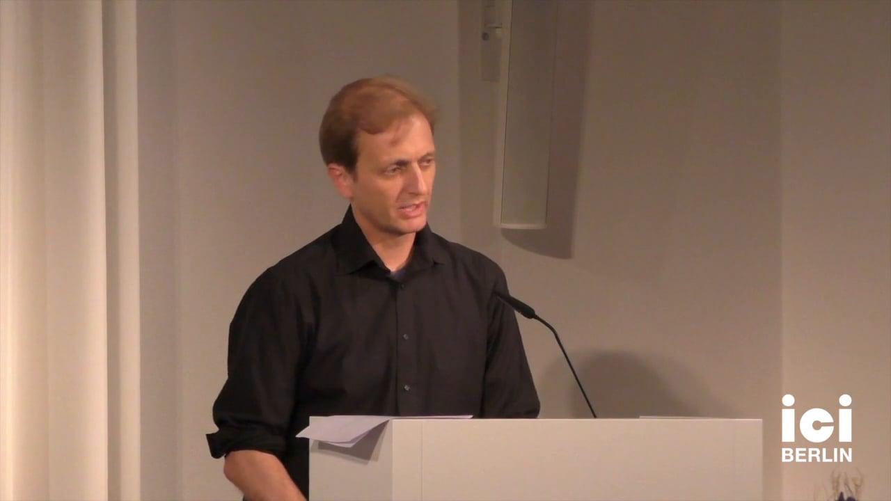 Talk by Arnold Sauter [5]