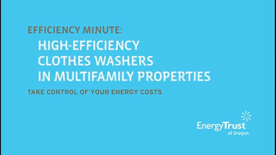 Thumbnail of video for Efficiency Minute: Clothes Washers
