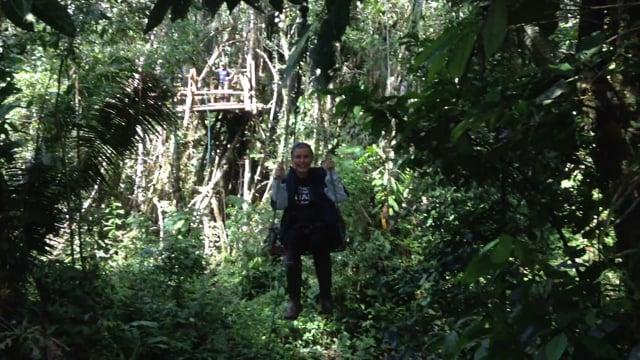 Zipline in Amazonia - Becca