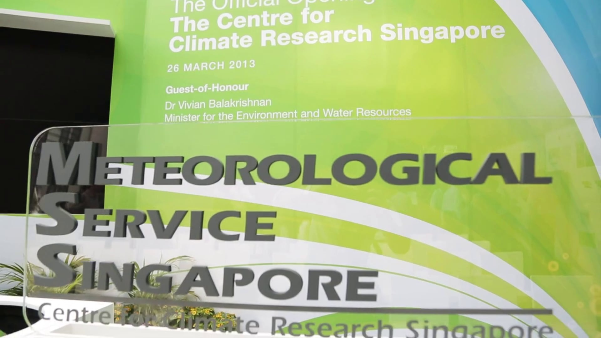 Official Opening of The Centre for Climate Research Singapore