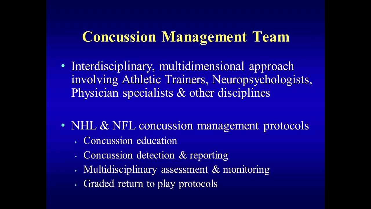 Concussion Assessment Tools and Procedures
