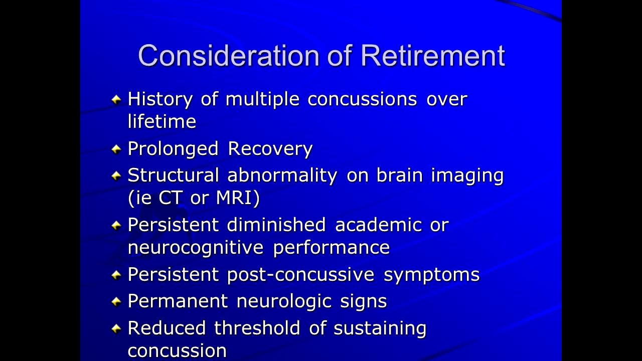 When Should a Player Retire from Contact Sports
