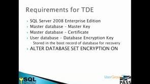 SQL TDE