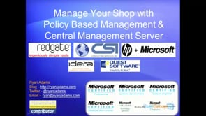 SQL Policy Based Mgmt