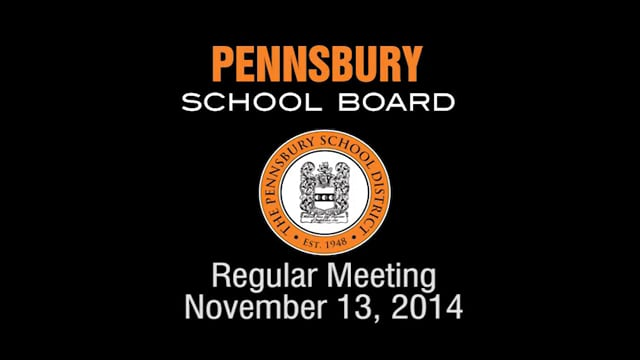 Pennsbury School Board Meeting for November 13, 2014