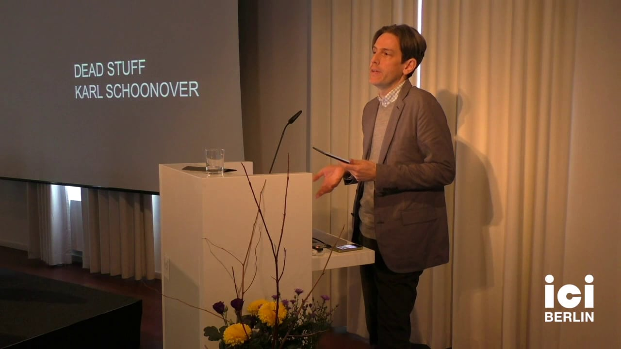 Talk by Karl Schoonover [6]