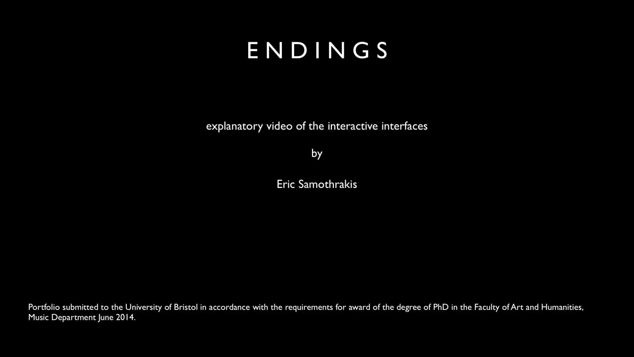 §4 Endings - explanatory video of interactive interfaces