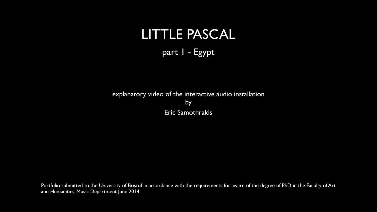 §5 Section 1 - Explanatory video Egypt