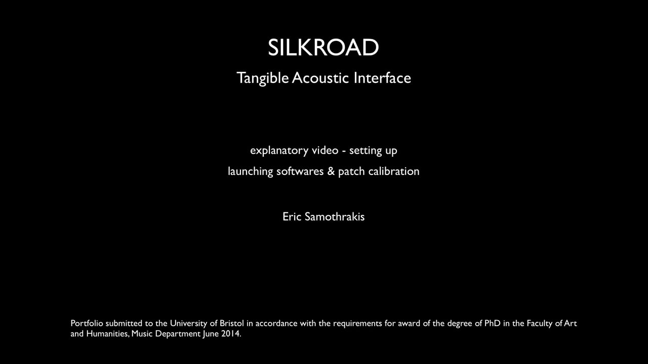 §6 SilkRoad - launching softwares & patch calibration