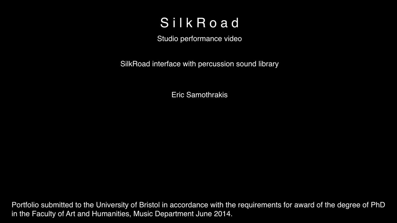 §6 SilkRoad - studio performance with percussion library