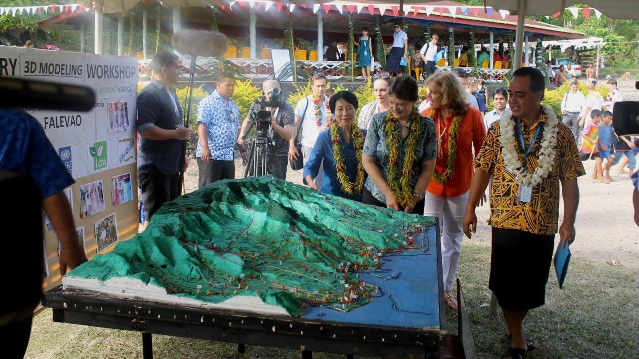 Top UN officials Helen Clark and Naoko Ishii praising outcome of P3DM activities in Samoa