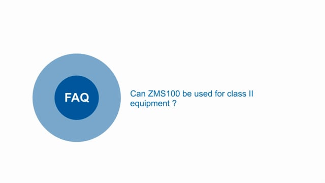 Can ZMS100 power supplies be used for class II equipment?