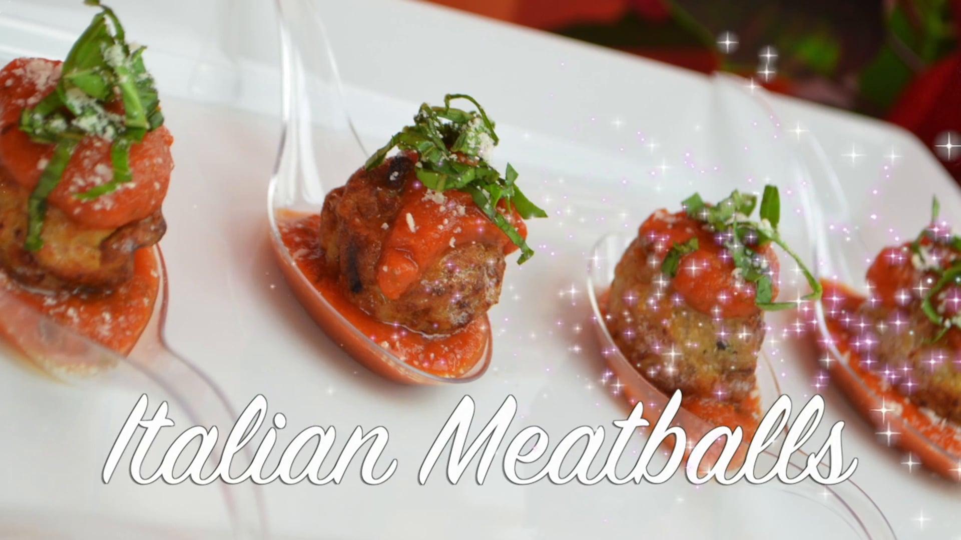 Free Video:  Savory Italian Meatballs