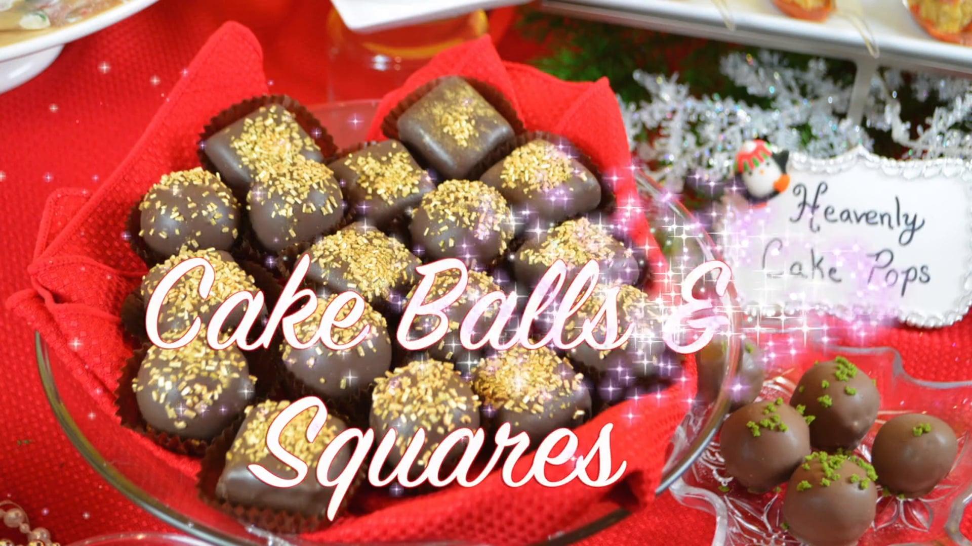 Free Video: How to create Cake Balls & Square Treats