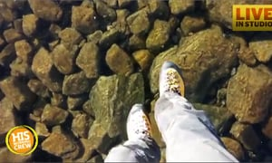 Hikers Appear to Walk on Water