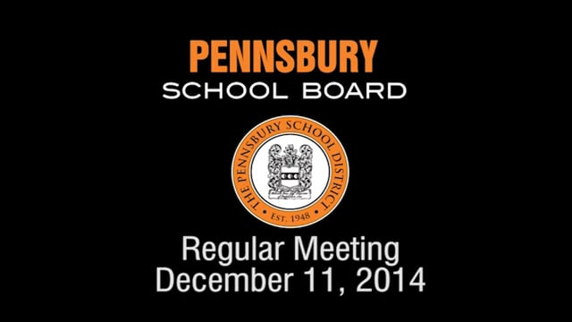 Pennsbury School Board Meeting for December 11, 2014
