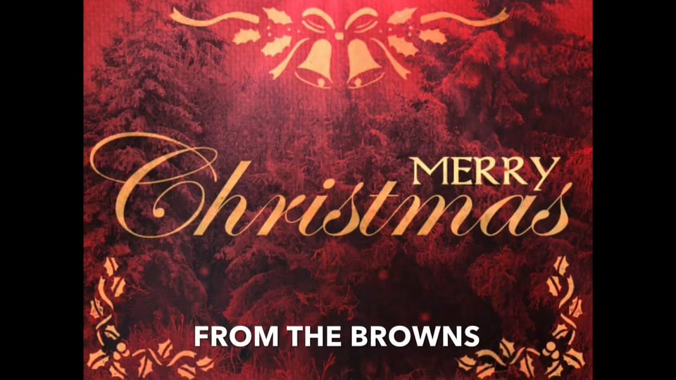 Thank You from the Browns (Christmas '14)