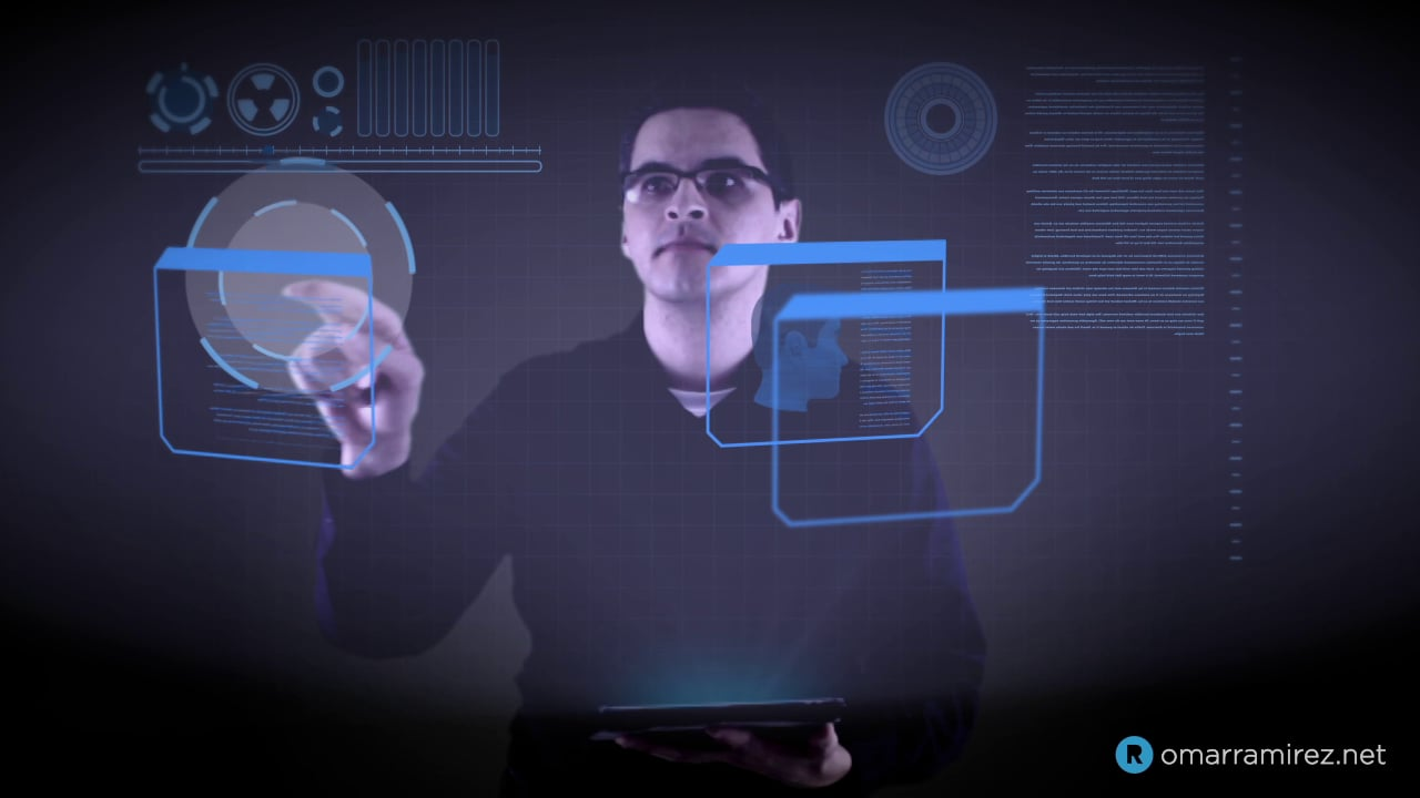 VFX Test – Projected Hologram Heads-up Display/UI
