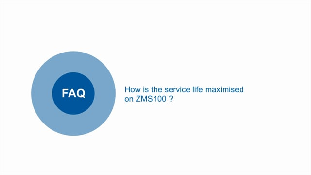 How is service life maximised on ZMS100 power supplies?