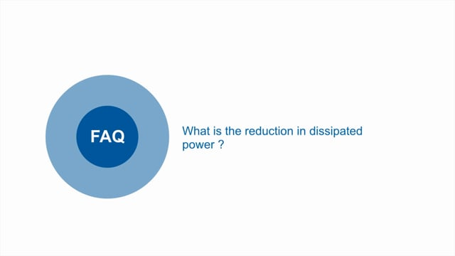 What is the reduction in dissipated power between the S and SA versions of PFE power module range?