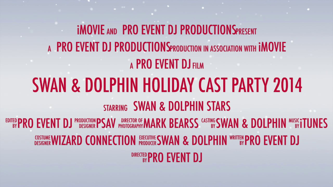 Swan & Dolphin Holiday Cast Party 2014 - low res