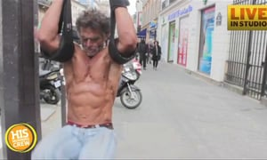 Homeless French Man Takes Up Body Building
