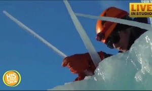 Dad Builds Incredible Ice Castles