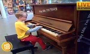 Boy Plays Mall Piano Like a Pro