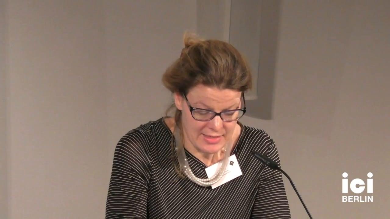 Keynote of Hans-Thies Lehmann Read by Ramona Mosse [2]