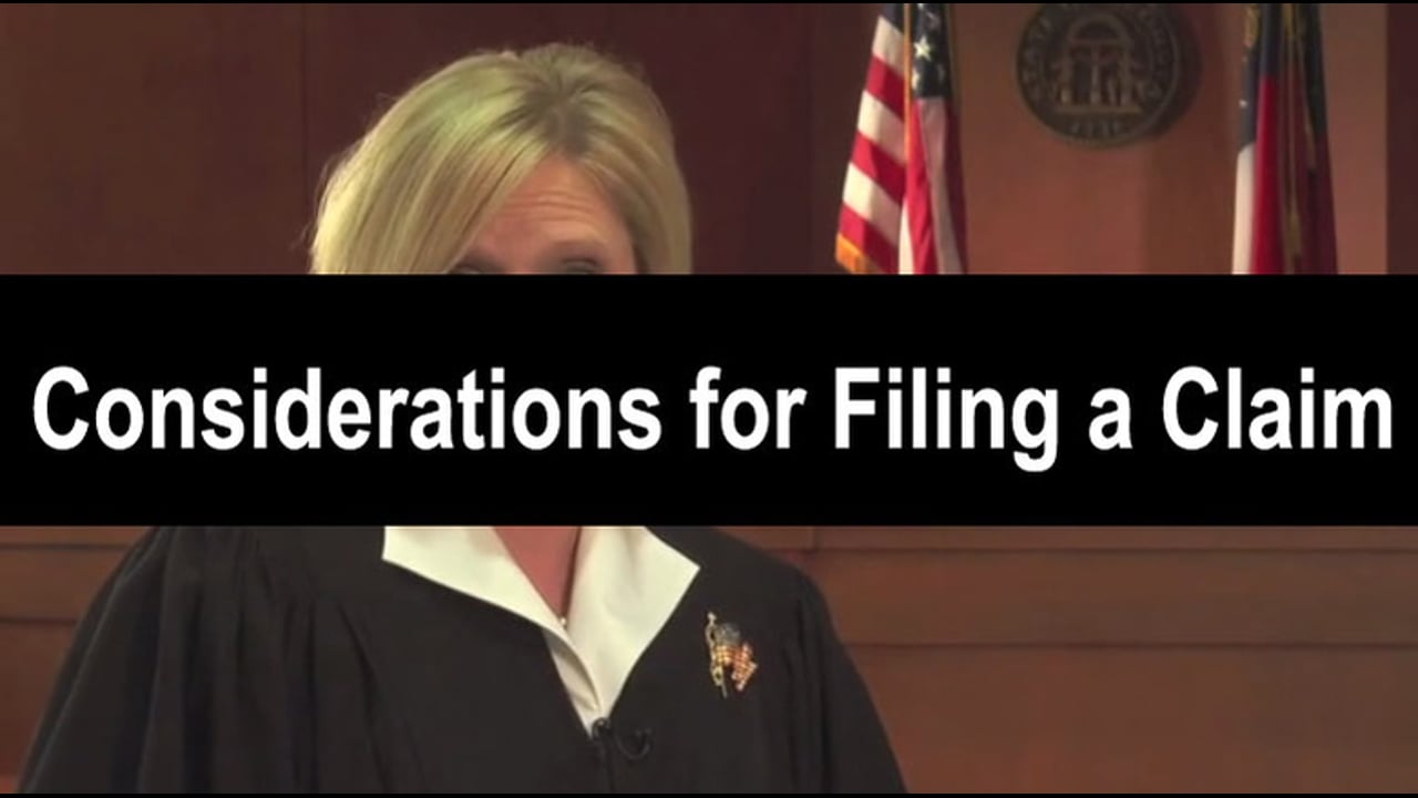 03-Considerations For Filing a Claim