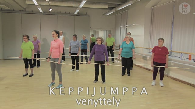 Liikettä niveliin-Keppijumppa: Venyttely