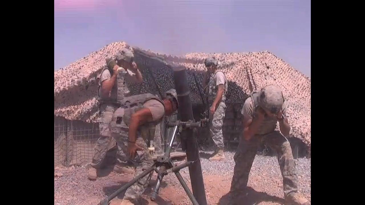 101st Airborne's Mortar Team at FOB Wilson, Kandahar September 2010
