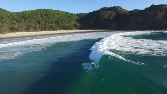 Above Byron Bay from David Trewern