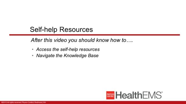 HealthEMS 1002 - Essentials - Self-Help Resources