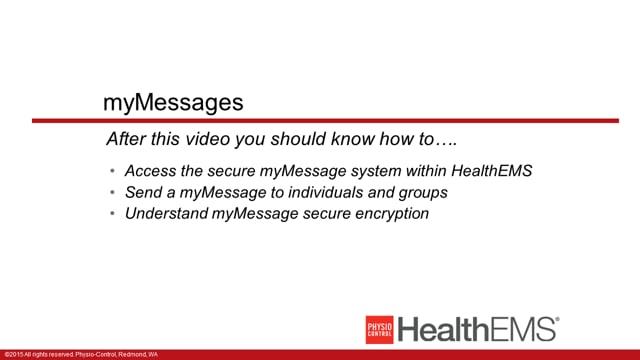 HealthEMS 1004 - Essentials - myMessages