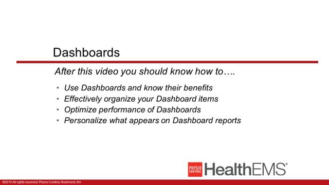 HealthEMS 1005 - Essentials - myDashboard