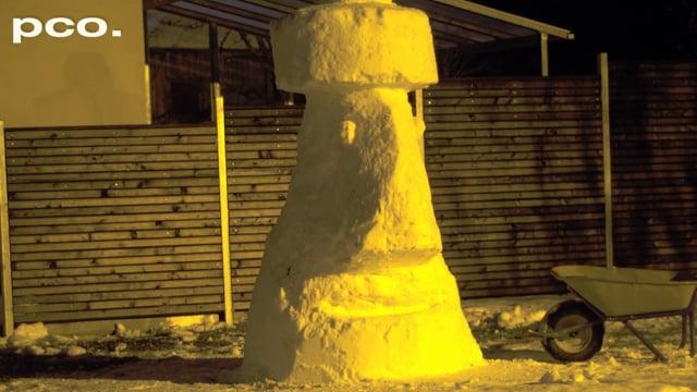 Moai snowman