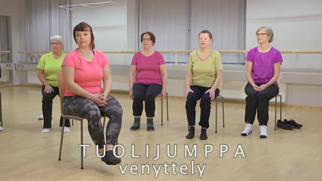 Liikettä niveliin-Tuolijumppa: Venyttely
