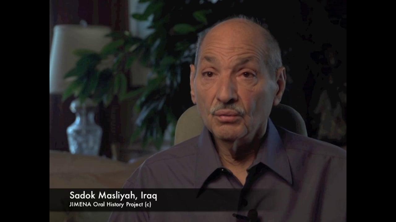 Sadok Masliyah Oral History
