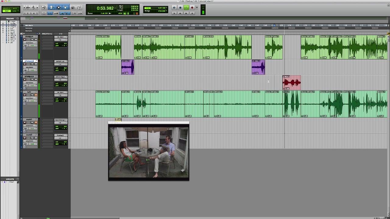 Dialogue Editing Setting up 2
