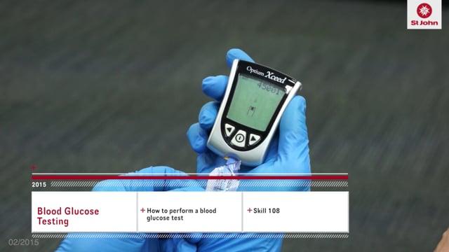 Blood Glucose Test (VIDSKILL022a)